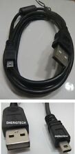 Panasonic Lumix dmc-sz7eb-wcamera De Datos Usb sync/transfer Lead Cable Para Pc / Mac
