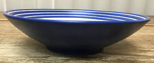 Denby Intro Blue Stripe Cobalt Royal 1 Cereal Soup Bowl White Bands England 2nd?