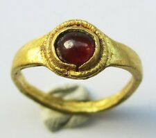 ROMAN GOLD RING Rare ANNICULUS RING  presented to Roman Baby & Mother with RUBY