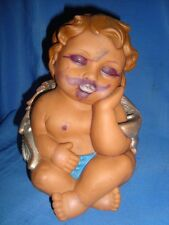 Old vintage Cupid Boy Rubber Doll Money Box  Fig's From Japan 1960