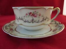 "Haviland Limoges Riviera Cup & Saucer ca.1925 Liquidation ""Sale""  Mint Condition"