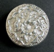 ANTIQUE MAUSER & COM STERLING SILVER  PILL BOX WITH FLORAL MOTIFS