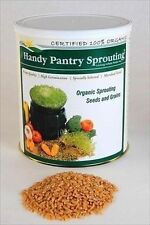 ORGANIC WHEAT-5 LB CAN-HARD RED-BREAD FLOUR, FOOD STORAGE WHEATGRASS SEED, GRASS