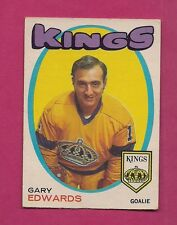 1971-72 OPC # 155 KINGS GARY EDWARDS  GOALIE  ROOKIE VG CARD (INV#2111)