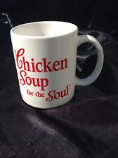 Chicken Soup for the Soul Coffee Mug White with Red Writing Classic Cup Tea