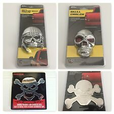 (4)pcs Bully Skull Stainless Steel 3-D Decal Emblem for Car's,Truck's,Suv's,Rv's