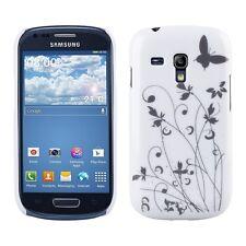 kwmobile Schutz Hülle für Samsung Galaxy S3 Mini Gras Schmetterling Grau Case