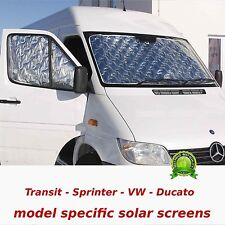 Set solar insulation screen -sun shade - Ford Transit post 2007 - RV solarscreen
