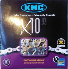 KMC X10.93 10 SPEED STRETCH-PROOF BIKE CHAIN ROAD MTB SRAM SHIMANO CAMPY NEW