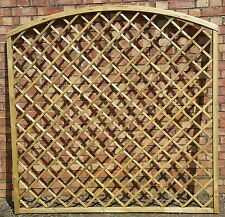 WOODEN GARDEN  ARCHED CURVED TRELLIS 180CM X 180CM  NOW 10% OFF