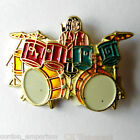 DOUBLE BASS BRUM KIT DRUMMER MUSIC ROCK LAPEL PIN BADGE 1 INCH