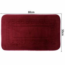 50X80cm Red Square Pattern Microfibre Memory Foam Bathroom Shower Bath Mat