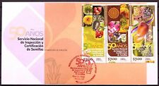 Mexico 2011 FDC 50 Years National Seed Inspection Flower Avocado Maiz Agave XF
