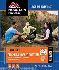 6 - Mountain House Freeze Dried Food Pouch - Chicken Breast & Mashed Potatoes