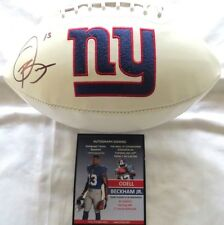 ODELL BECKHAM SIGNED AUTOGRAPH GIANTS LOGO FS FOOTBALL SIGNING TICKET & COA