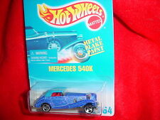 HOT WHEELS #164 MERCEDES 540K METAL FLAKE PURPLE WITH 3 SPOKE RIMS FREE USA SHIP