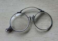 Antique Vintage Floral Sterling Silver Pince Nez Spectacles Eyeglasses