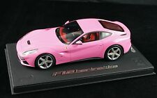 1/18 BBR FERRARI F12 BERLINETTA GLOSS QATAR PINK ON DELUXE BASE LE 15 PCS N MR