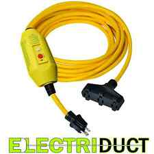 GFCI Power Extension Cord 3 Outlets 25FT Feet Cord - Electriduct