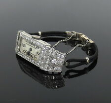 Art Deco Aureole 3.0ct Old Mine Cut Diamond Platinum Lady's Watch