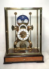 Moon Dial Harrison Grasshopper Clock-24K Gold Finish With Front Door Case