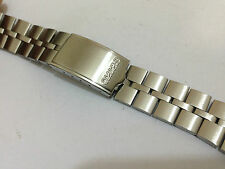 NEW SEIKO FISH BONE STAINLESS STEEL GENTS WATCH STRAP,20MM.6139,6138