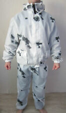 NEW ALL SIZES Russian Uniform White Camouflage Suit Jacket Pants Military Winter
