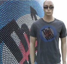 AMPLIFIED THE WHO Strass 70'er Mods Star Vintage Stonewash Löcher T-Shirt g.L 52
