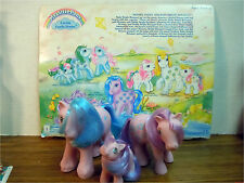 BRIGHT BOUQUET MOMMY, DADDY & BABY W/ CARD My Little Pony G1 Vintage