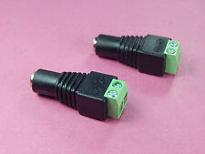 2 of 5.5x2.1mm Female DC Power Jack Connector Plug terminal Adapter Arduino LED