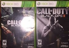 CALL OF DUTY BLACK OPS 1 & 2 COMPLETE XBOX 360 VG SHAPE AND TESTED