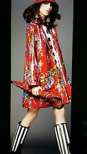 New DOLCE & GABBANA  Coat / Raincoat Cotton Red UK 12 / IT 40 / L RRP£ 1425.00