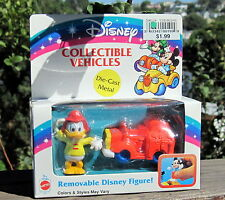 1992 DISNEY ARCO DIE-CAST COLLECTABLE VEHICLES Removable Donald Duck W/Fire MIB