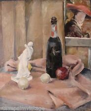 Art Paintings Himelick Signed Still Life Mid-Century Home Decor Oil Board 02640