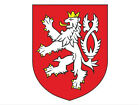 3x4 inch Czech Republic Crest Sticker - decal coat of arms emblem Bohemia lion