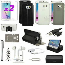 13 in 1 Accessory Bundle Kit Case Cover Dock Charger For Samsung Galaxy S6 Edge
