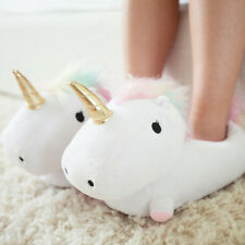 Smoko 832 Unicorn Light Up Slippers One Size Fits Most Women 12 Plush Footwarmer