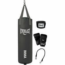 Everlast 70 Lb MMA Heavy Boxing Punching Bag Kit Wraps Gloves Kicking NEW!