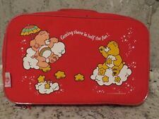 Vintage Care Bears Child's fabric suitcase