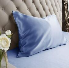 Jasmine Silk 100% Natural 19 Momme Charmeuse Silk Pillow case Blue