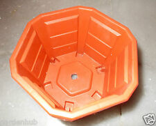 "4"" Hexagonal - Strong - PLASTIC (NURSERY) - Plant Pot  - Set Of 5 Nos Pots"