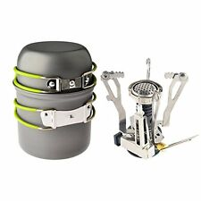 Ultralight Portable Outdoor Camping Stove, Hiking Camping Backpacking Gear
