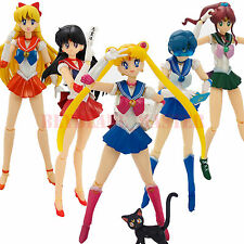 5 sets Sailor Moon Action Figure Doll Moon Mercury Mars Jupiter Venus New in Box