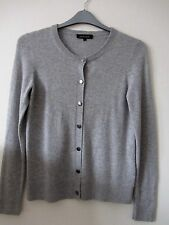 Grey wool/cashmere cardigan Jaeger S fit size 10/12
