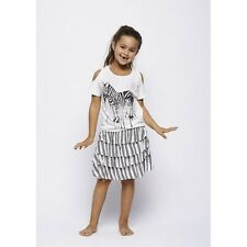 "BNWT ""Creamie"" GIRLS STRIPED RUFFLE SKIRT from DENMARK, AGE 7 YEARS"