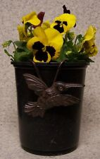 Flower Pot Hugger Cast Iron Bird #1 NEW bronze toned