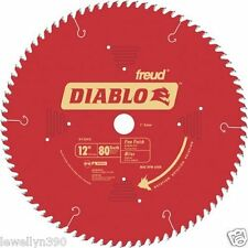 "Freud D1280X 12"" x 80 Fine Finish Saw Blade NEW"