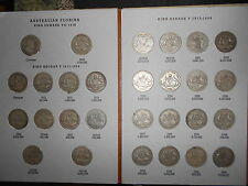 Complete set of Australian florins 2/ (including the 1932 ) NO 1934/35 Centenary