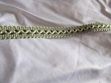 Galon passementerie vert et ivoire 12 mm de large au mètre ! Scrapbooking