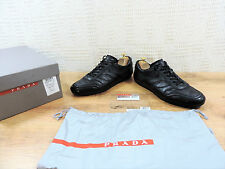 Prada Black Boxed Men's Leather Lace trainers Casual Shoes - UK 9  US 10  E 43